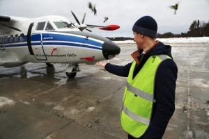 Открытие взлётно-посадочной полосы на Соловках 29 ноября 2019 года