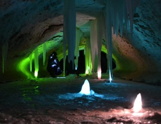 ледяные пещеры в Пинеге