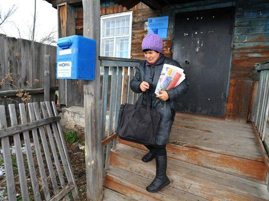 почтальон в селе