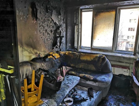 пожар в Архангельске