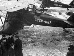 самолет и полярные летчики СССР