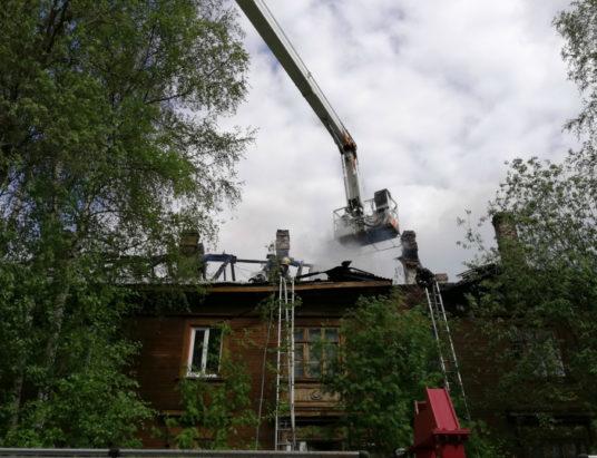 тушение пожара в деревянном доме