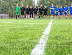 Готовность футбольного поля в Няндоме - 90 процентов