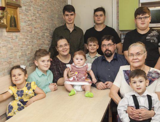 Многодетная семья_Ильины